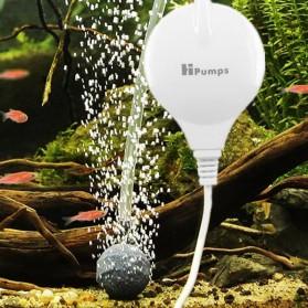 Pompa Nano Oxygen Aquarium 18L/Min with Air Stone and Silicone Tube - YDQB4104 - White