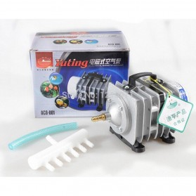 YUTING Pompa Aerator Kompresor Udara Aquarium 20W - ACO-001 - Silver Black - 4