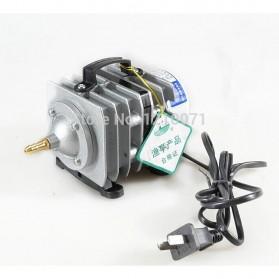 YUTING Pompa Aerator Kompresor Udara Aquarium 20W - ACO-001 - Silver Black - 5