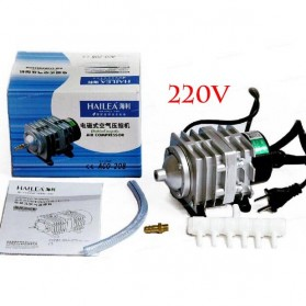 YUTING Pompa Aerator Kompresor Udara Aquarium 20W - ACO-001 - Silver Black - 7