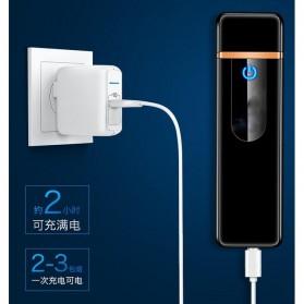 Korek Api Elektrik Fingerprint Touch Sensor LED Screen - HB-180 - Black - 4