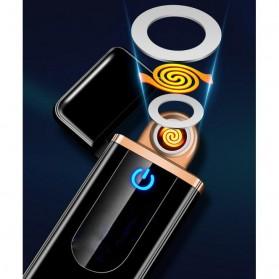 Korek Api Elektrik Fingerprint Touch Sensor LED Screen - HB-180 - Black - 5