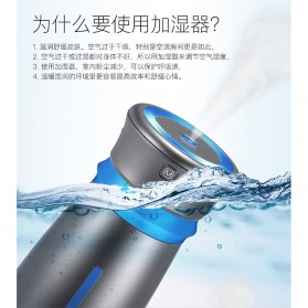 Taffware Air Humidifier Pelembab Udara with USB Fan - HUMI TB-63 - Silver - 5