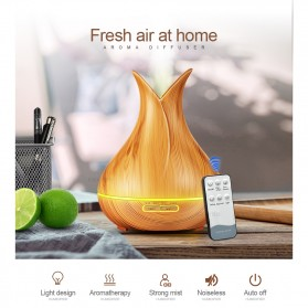 Taffware Aroma Therapy Air Humidifier Wood Flower 400ml with Remote Control - HUMI H113YK - Dark Chocolate - 2