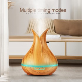 Taffware Aroma Therapy Air Humidifier Wood Flower 400ml with Remote Control - HUMI H113YK - Dark Chocolate - 9