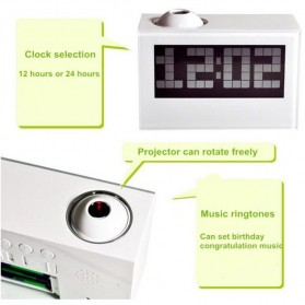 Jam Alarm Digital Proyektor Creative - HSD1137A - Black - 6