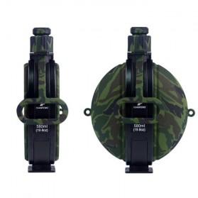 Yuanfeng Botol Minum Tentara Foldable Round Kettle dengan Kompas 580ml - SH-07 - Camouflage