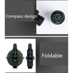 Yuanfeng Botol Minum Tentara Foldable Round Kettle dengan Kompas 580ml - SH-07 - Camouflage - 7