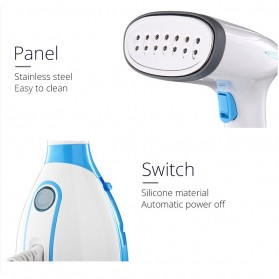ANIMORE Setrika Uap Handheld Garment Steamer 1500W 280ml - MW-801 - Blue - 9