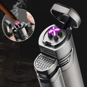 Korek Api Elektrik Pulse Plasma Double Arc USB Lighter with Cigar Cutter - F000241 - Black - 2