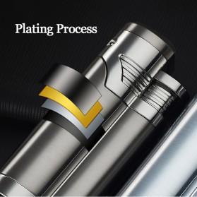 Korek Api Elektrik Pulse Plasma Double Arc USB Lighter with Cigar Cutter - F000241 - Black - 5