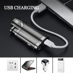 Korek Api Elektrik Pulse Plasma Double Arc USB Lighter with Cigar Cutter - F000241 - Black - 6