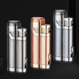 Korek Api Elektrik Pulse Plasma Double Arc USB Lighter with Cigar Cutter - F000241 - Black - 9