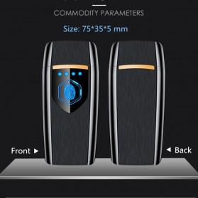 Firetric Korek Api Elektrik Heating Coil USB Lighter Finger Print - BK002 - Black - 6