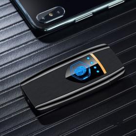 Firetric Korek Api Elektrik Heating Coil USB Lighter Finger Print - BK002 - Black - 7
