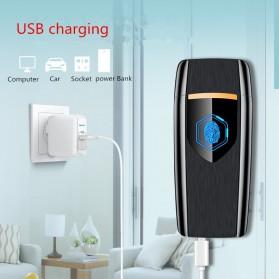 Firetric Korek Api Elektrik Heating Coil USB Lighter Finger Print - BK002 - Black - 11