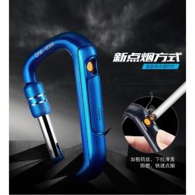 Bwohops Korek Api Elektrik Heating Coil Carabiner Lighter- DSK-8088 - Black - 4