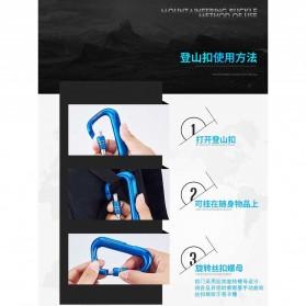 Bwohops Korek Api Elektrik Heating Coil Carabiner Lighter- DSK-8088 - Black - 5