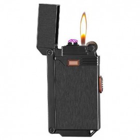 Firetric Korek Api Gas Elektrik Pulse Plasma Arc Lighter 2 in 1 - AB007 - Black