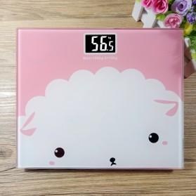 Timbangan Badan Digital Desain Kartun 180Kg - BD-DZM308 - Baby Pink