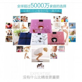 Timbangan Badan Digital Desain Kartun 180Kg - BD-DZM308 - Baby Pink - 2