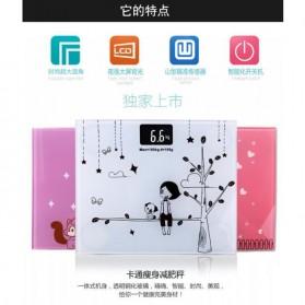 Timbangan Badan Digital Desain Kartun 180Kg - BD-DZM308 - Baby Pink - 3