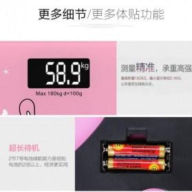 Timbangan Badan Digital Desain Kartun 180Kg - BD-DZM308 - Baby Pink - 4