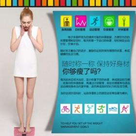 Timbangan Badan Digital Desain Kartun 180Kg - BD-DZM308 - Baby Pink - 9