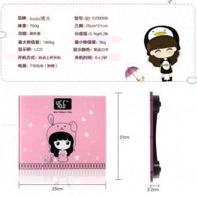 Timbangan Badan Digital Desain Kartun 180Kg - BD-DZM308 - Baby Pink - 10