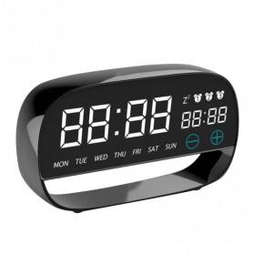 Jam Weker Alarm Kalender dan Thermometer Pengukur Suhu - LS-001 - Black - 2