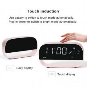Jam Weker Alarm Kalender dan Thermometer Pengukur Suhu - LS-001 - Black - 5
