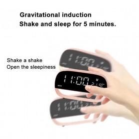 Jam Weker Alarm Kalender dan Thermometer Pengukur Suhu - LS-001 - Black - 7