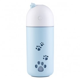 Air Humidifier Aromatherapy Cat Paw Design 220ml - Q Pet - Blue