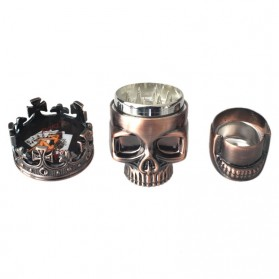 Grinder Penggiling Tembakau Rokok 3 Layer - King Skull - Copper