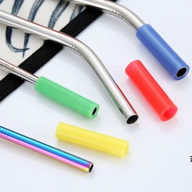 ASHIE Sedotan Stainless Steel Bending Straw Capillary 8 PCS - H0DG-010 - Silver - 6