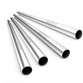 ASHIE Sedotan Stainless Steel Bending Straw Capillary 8 PCS - H0DG-010 - Silver - 9