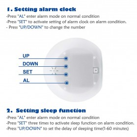 Jam Alarm Digital Sensor Temperature LED RGB Night Light- JL-C018 - White - 3