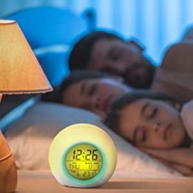 Jam Alarm Digital Sensor Temperature LED RGB Night Light- JL-C018 - White - 8