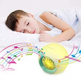 Jam Alarm Digital Sensor Temperature LED RGB Night Light- JL-C018 - White - 9