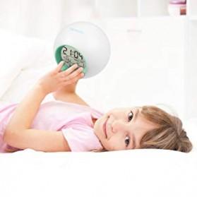 Jam Alarm Digital Sensor Temperature LED RGB Night Light- JL-C018 - White - 10