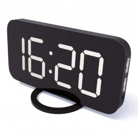 Luminova Jam Alarm Digital with Smartphone Charger 2 USB Port 2.1A - Q1DD-252 - Black