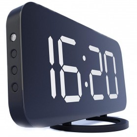 Luminova Jam Alarm Digital with Smartphone Charger 2 USB Port 2.1A - Q1DD-252 - Black - 2