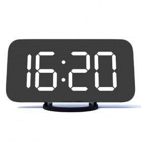 Luminova Jam Alarm Digital with Smartphone Charger 2 USB Port 2.1A - Q1DD-252 - Black - 3