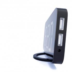 Luminova Jam Alarm Digital with Smartphone Charger 2 USB Port 2.1A - Q1DD-252 - Black - 4