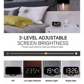 Luminova Jam Alarm Digital with Smartphone Charger 2 USB Port 2.1A - Q1DD-252 - Black - 5