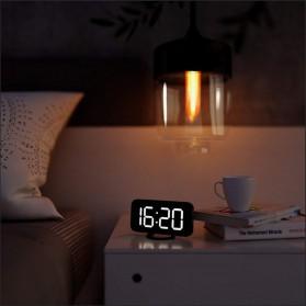 Luminova Jam Alarm Digital with Smartphone Charger 2 USB Port 2.1A - Q1DD-252 - Black - 6