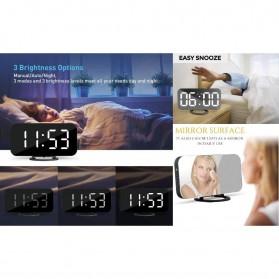 Luminova Jam Alarm Digital with Smartphone Charger 2 USB Port 2.1A - Q1DD-252 - Black - 10