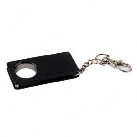 Pisau Lipat Self Defense Multifungsi Hidden Portable Knife Survival Tool EDC with Keychain - A3012 - Black - 3