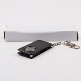 Pisau Lipat Self Defense Multifungsi Hidden Portable Knife Survival Tool EDC with Keychain - A3012 - Black - 4