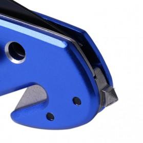 Pisau Lipat Seatbelt Cutter Glass Beaker Multifungsi Portable Knife Survival Tool EDC - H17 - Blue - 6